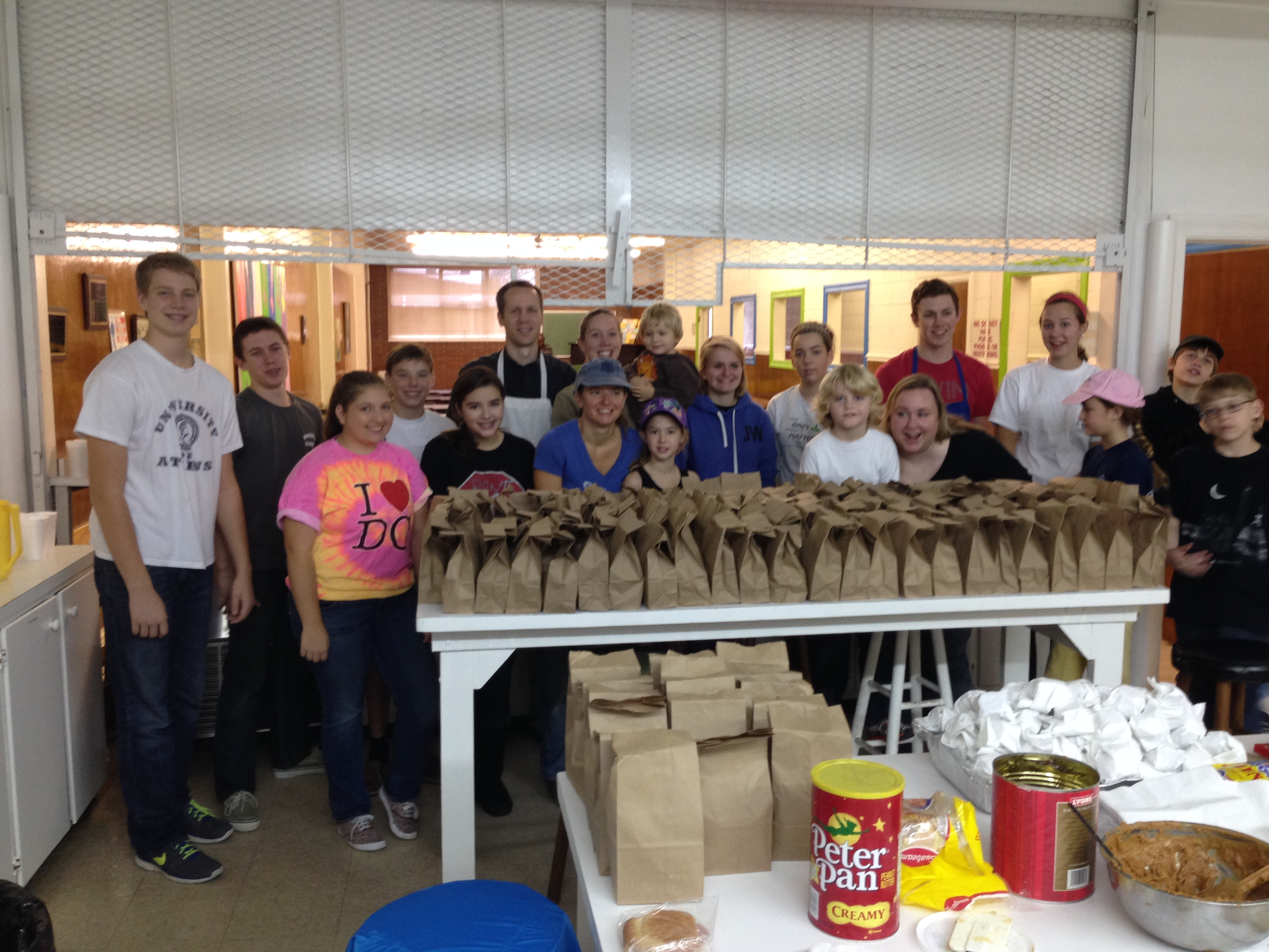 EYC serves at Mary's Kitchen